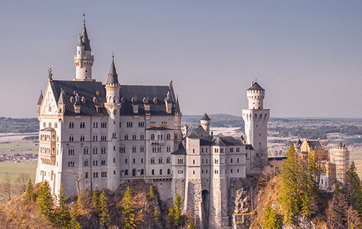 Neuschwanstein Castle under blue sky jigsaw puzzle