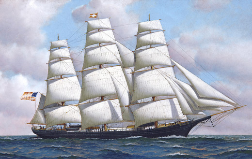 The American clipper ship