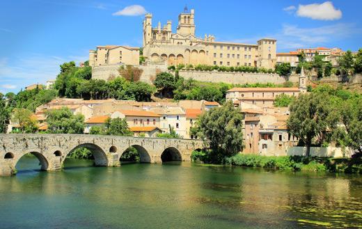 Castle Beziers France jigsaw puzzle.