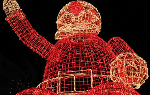 Santa Claus lights Jigsaw