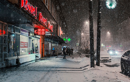 Snowfall-in-Moscow