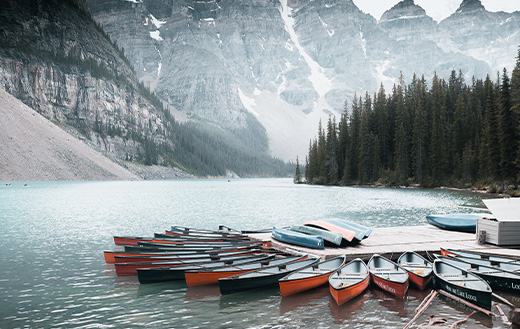 Boats at moraine
