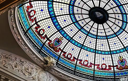 colored glass dome
