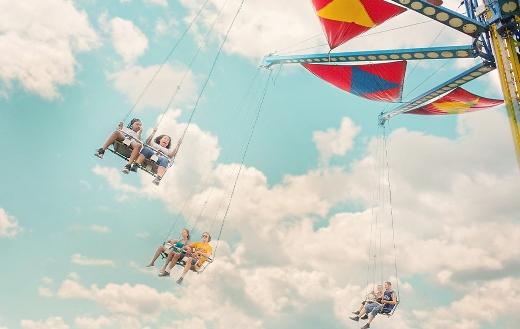 Amusement carousel park