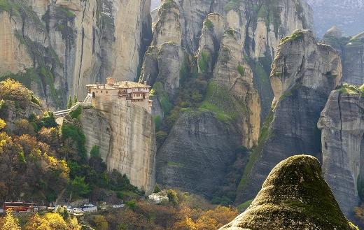 Meteora Greece monastery puzzle