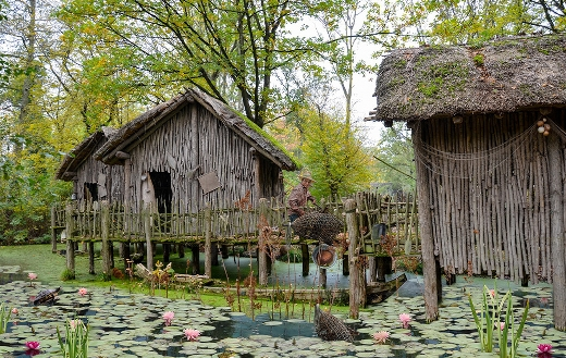 Fisherman house in nature