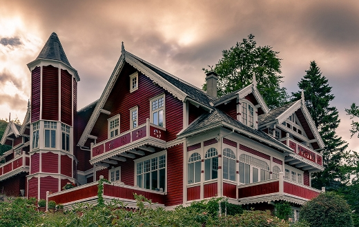 Fjord house Norway puzzle
