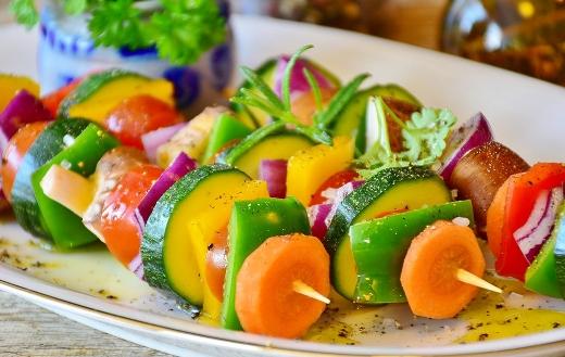 Vegetable skewer food