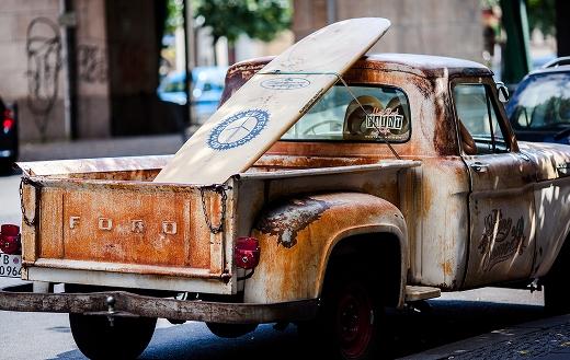 vintage pickup truck puzzle