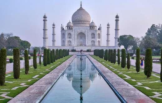 Cultural tourism Taj Mahal garden