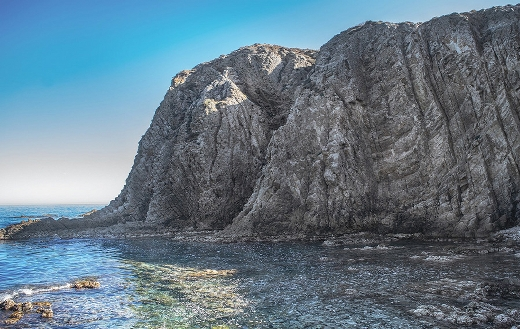 Elephant rocks form sea sky landscape online