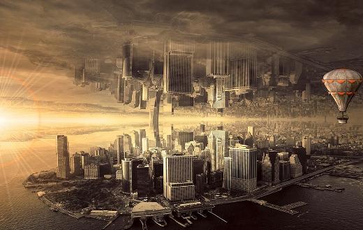 Fantasy city architecture online