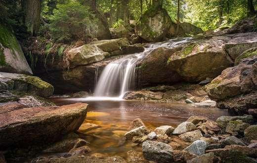 Long exposure atmospheric river nature