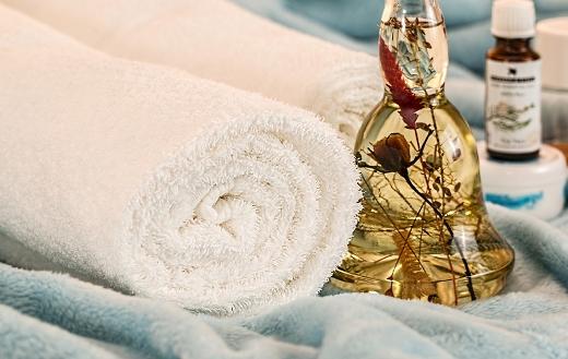 Massage therapy spa skincare essential oils puzzle