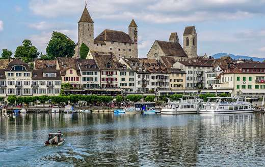 Rapperswil Jona lake Switzerland
