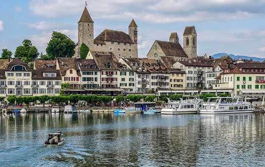 Rapperswil Jona lake Switzerland