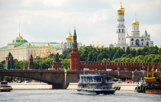 The Kremlin river Moscow