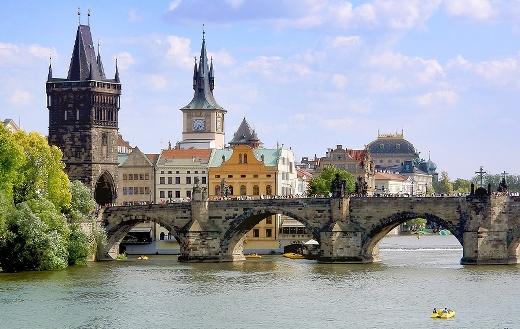The old town bridge tower Prague puzzle