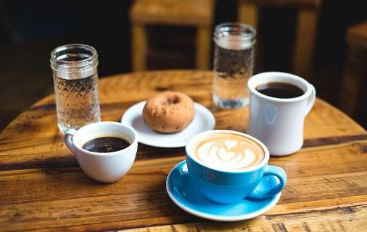 Three cups coffee