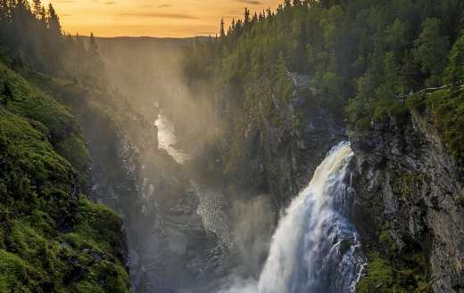 Waterfall Sweden landscape
