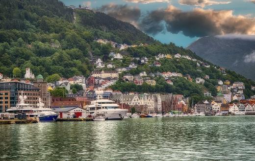 Bergen Norway landscape puzzle