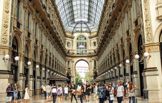 Busy day Galleria Vittorio Emanuele Milan Italy