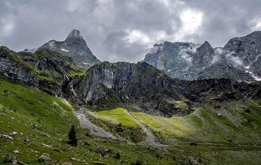 Alpine mountains nature landscape Switzerland