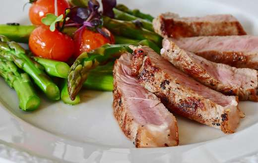 Asparagus steak foods online