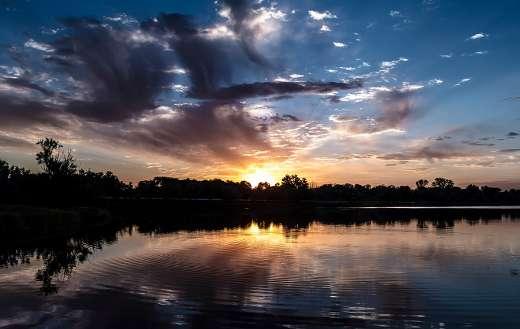 Beautiful sunset sunrise
