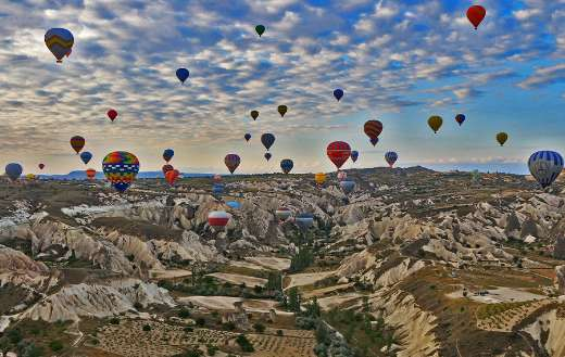 Cappadocia travel Turkey hot air balloon puzzle