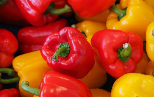 Colorful paprika healthy vegetables