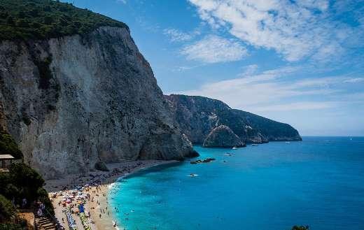 Greece islands sea Port Katsiky Lefkada