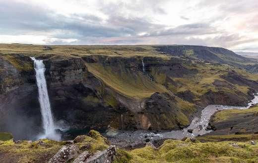Haifoss Iceland gorgeous waterfall