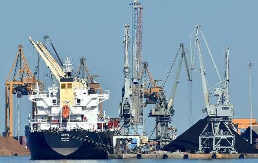 Port ship sea cargo industry