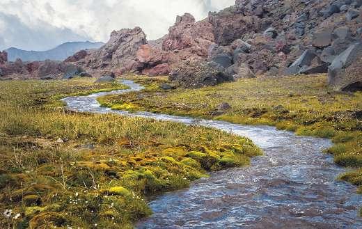 The Caucasus Russia Elbrus river creek mountain puzzle