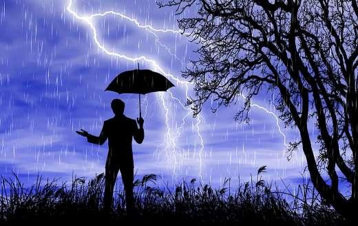 Thunderstorm lightning flash sky nature