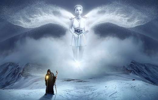 Fantasy white angel puzzle