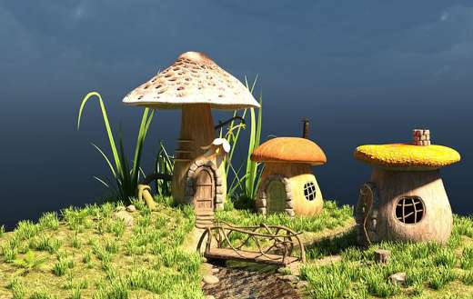 Little cute mushroom house online