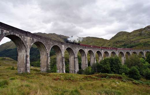 Scotland harry potter train puzzle