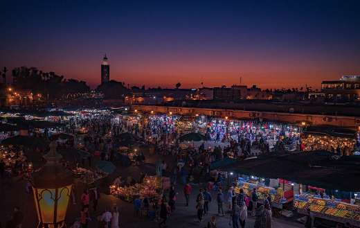 Marrakech market place Morocco bazaar culture