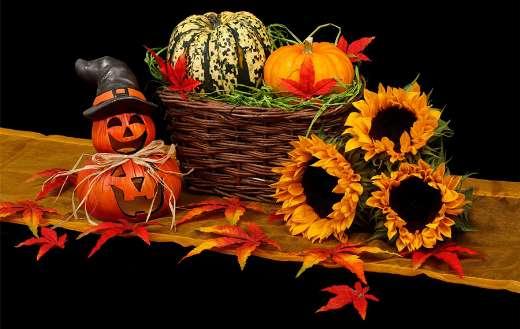 Autumn black dark decoration fall halloween