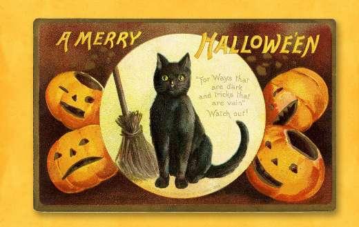 Halloween vintage card puzzle