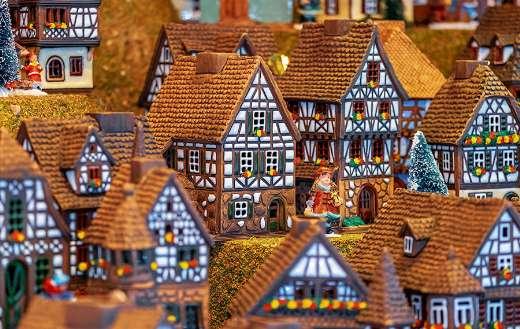 Christmas motif building Fachwerkhauser miniature puzzle