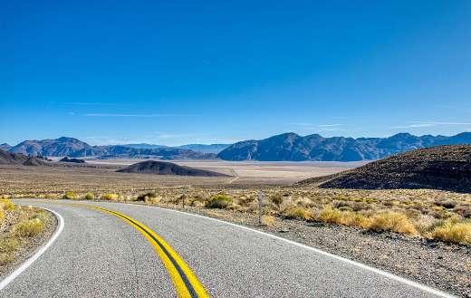Highway road valley desert America USA Arid