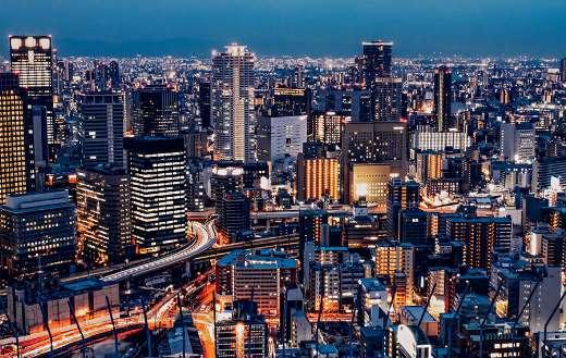 Osaka Umeda skyline buildings cityscape puzzle