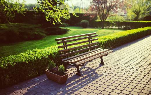 Park wooden bench online