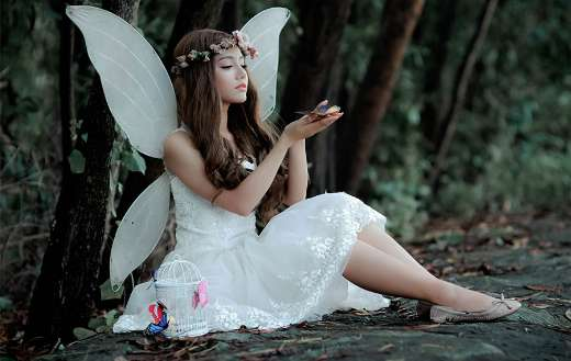 Woman in a fairy outfit online