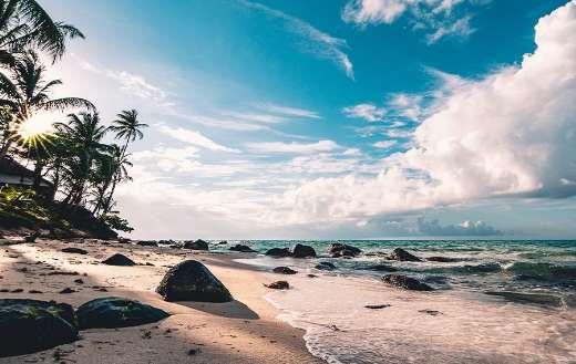 Beach clouds puzzle