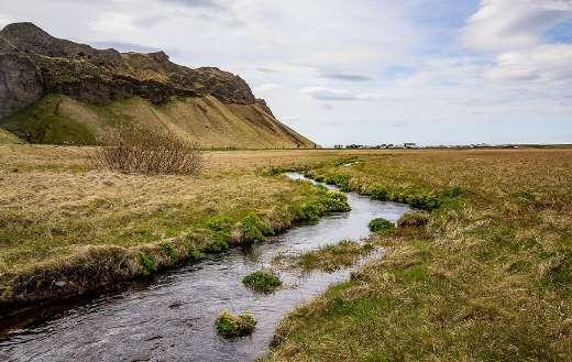 Stream brook meadow field mountain
