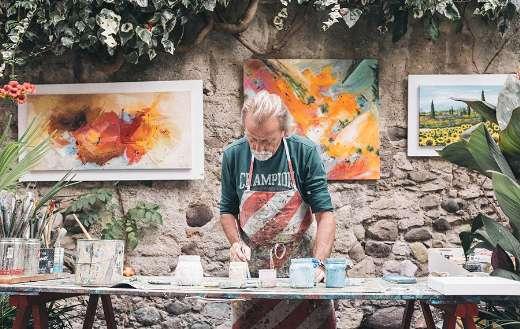 Painter art background puzzle
